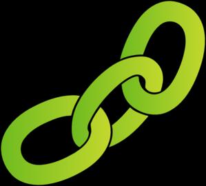 299x270 Green Chain Clip Art