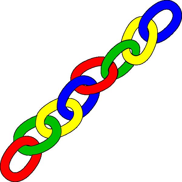 600x599 Link Clipart Color Chain Links Long Clip Art