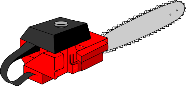 600x279 Chain Saw Clip Art Free Vector 4vector