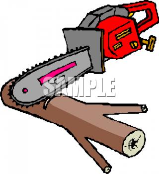 320x350 Chainsaw Clipart