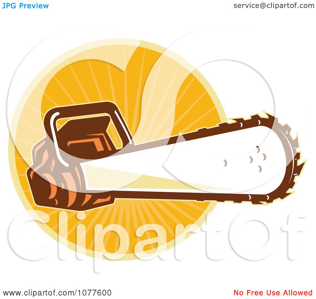 1080x1024 Clipart Chainsaw Over An Orange Burst