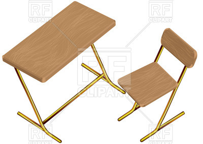 400x283 Children School Desk And Chair Royalty Free Vector Clip Art Image