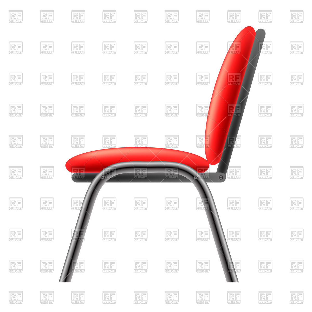 1200x1200 Red Office Chair Royalty Free Vector Clip Art Image