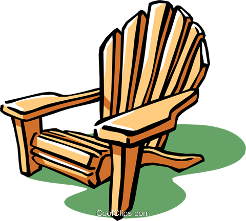 480x432 Lounge Chair Or Deck Chair Royalty Free Vector Clip Art