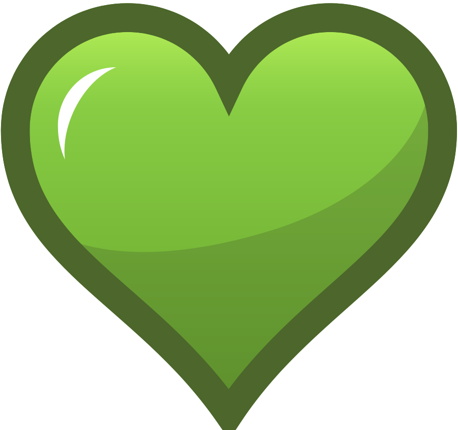 900x844 Green Heart Icon Svg Vector File, Vector Clip Art Svg File