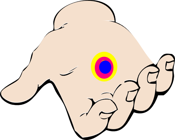 600x480 Open Hand With Chakra Clip Art