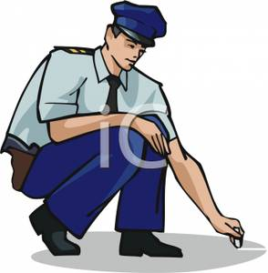 294x300 Clip Art Image A Cop Drawing With Chalk