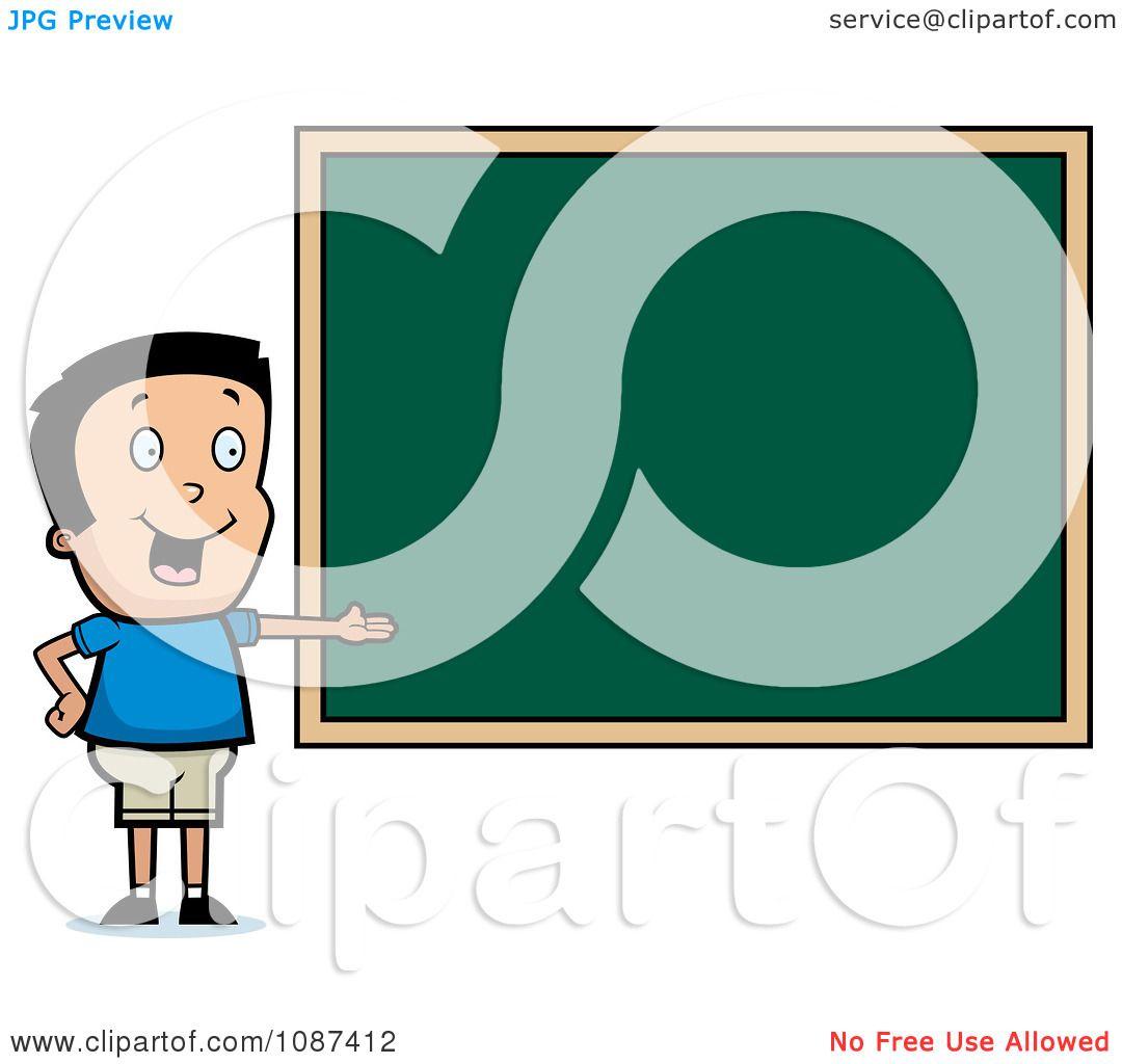 1080x1024 Clipart Smart School Boy Presenting A Chalk Board