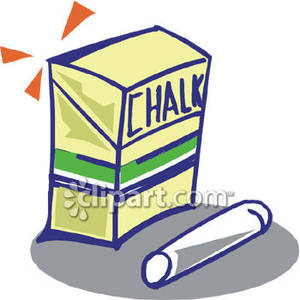 300x300 A Box Of Chalk Royalty Free Clipart Picture