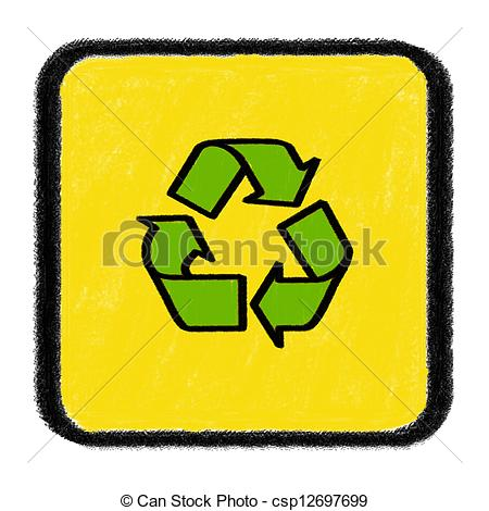 450x470 Recycle Sign Drawn With Chalk Stock Illustration