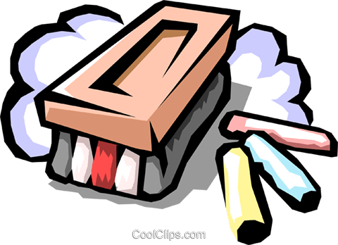 480x348 Eraser With Chalk Royalty Free Vector Clip Art Illustration