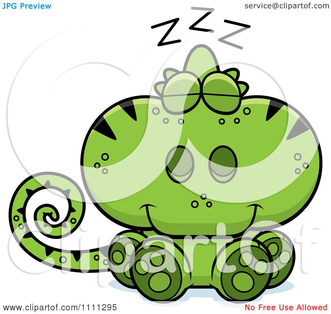 1080x1024 Clipart Cute Sleeping Green Chameleon Lizard