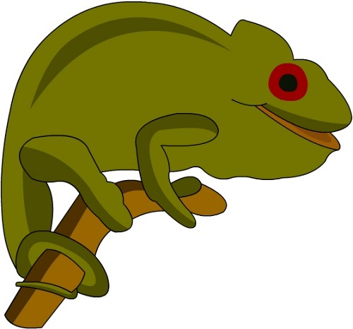 500x466 Panther Chameleon Clipart