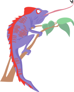 240x298 Bold Design Chameleon Clip Art Purple And Red At Clker Com Vector