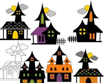 340x270 Halloween Clipart Haunted House Clip Art Chandelier Black