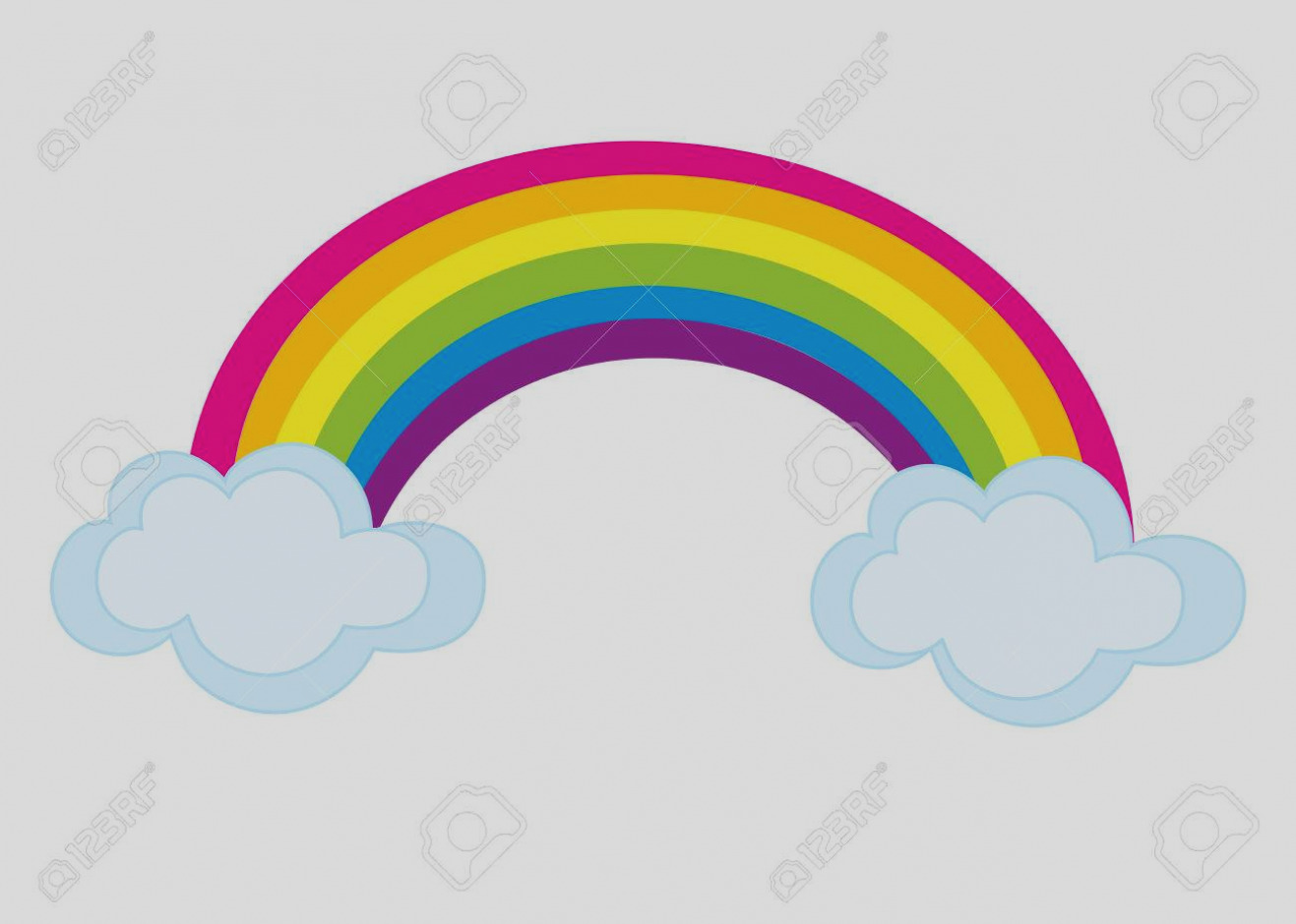 1317x940 Trend Of Clip Art Rainbow With Clouds Png Clipart Gallery