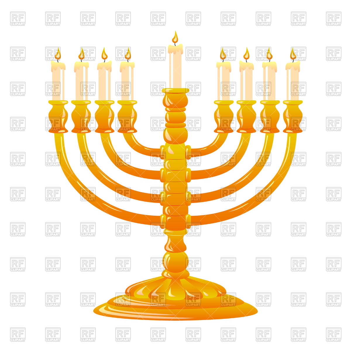 1200x1200 Hanukkah, Jewish Holiday. Golden Menorah With Burning Candles