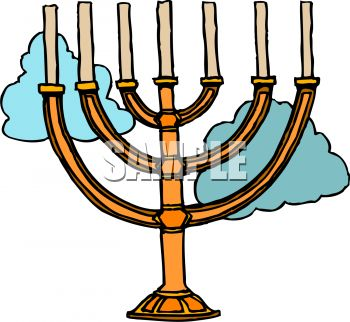 350x322 Menorah With Unlit Candles