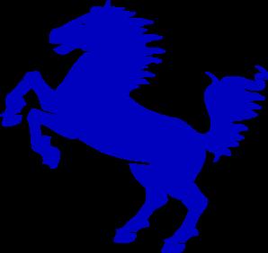 298x282 Blue Stallion Clip Art