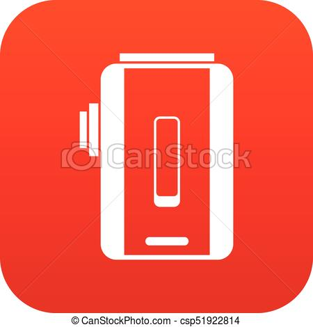 450x470 Charger Icon Digital Red For Any Design Isolated On White