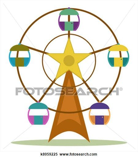 450x515 Clipart Of Ferris Wheel K8059225