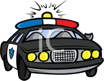 350x274 Police Car In A Chase With Its Lights Flashing