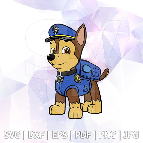 570x570 Svg Dxf Paw Patrol Chase Layered Cut Files Cricut Designs