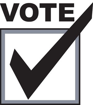 301x340 Merry Vote Clipart Sticker 1 Black And White Box Here No Yes 2016