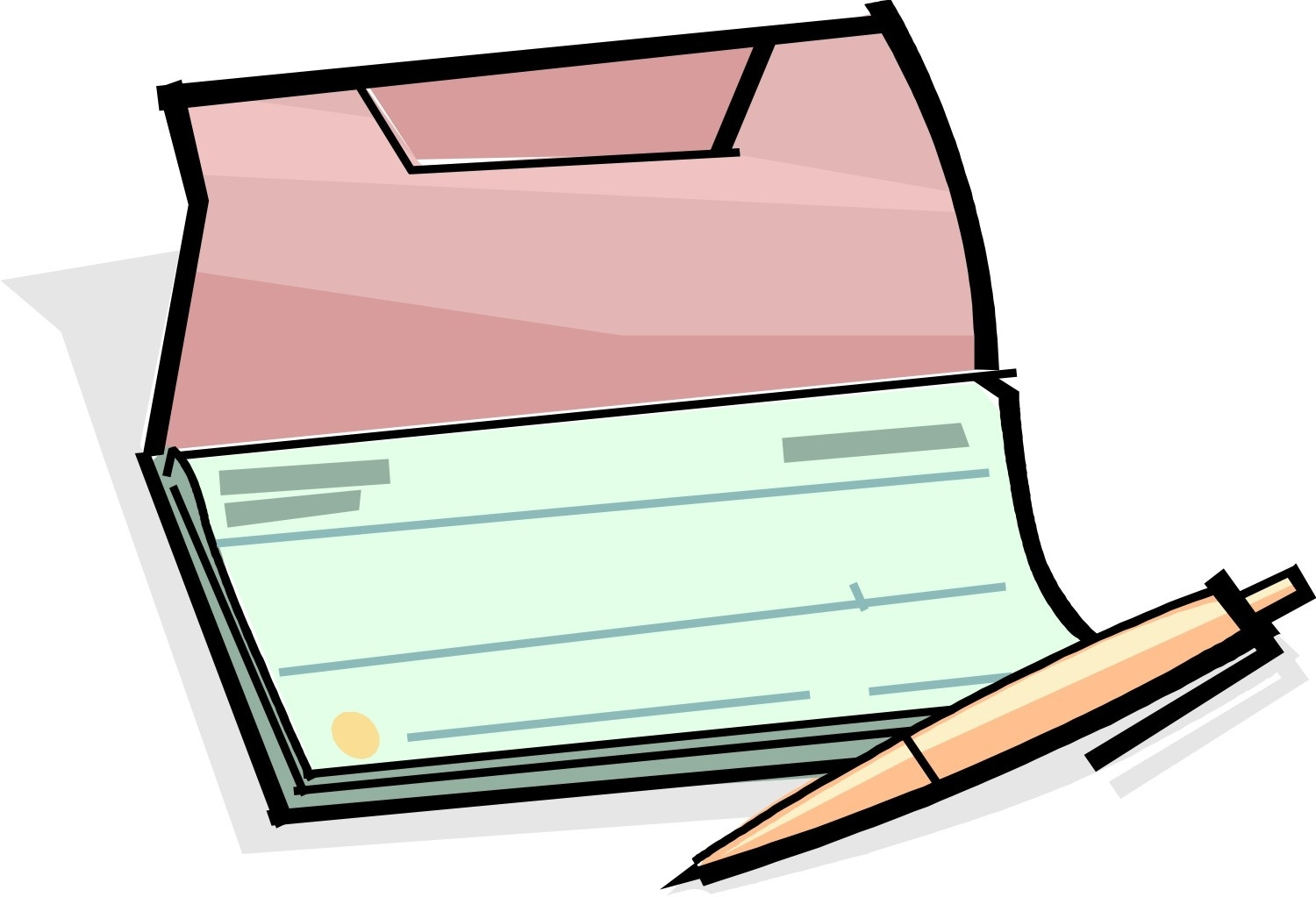 1500x1023 Writing Check Clipart