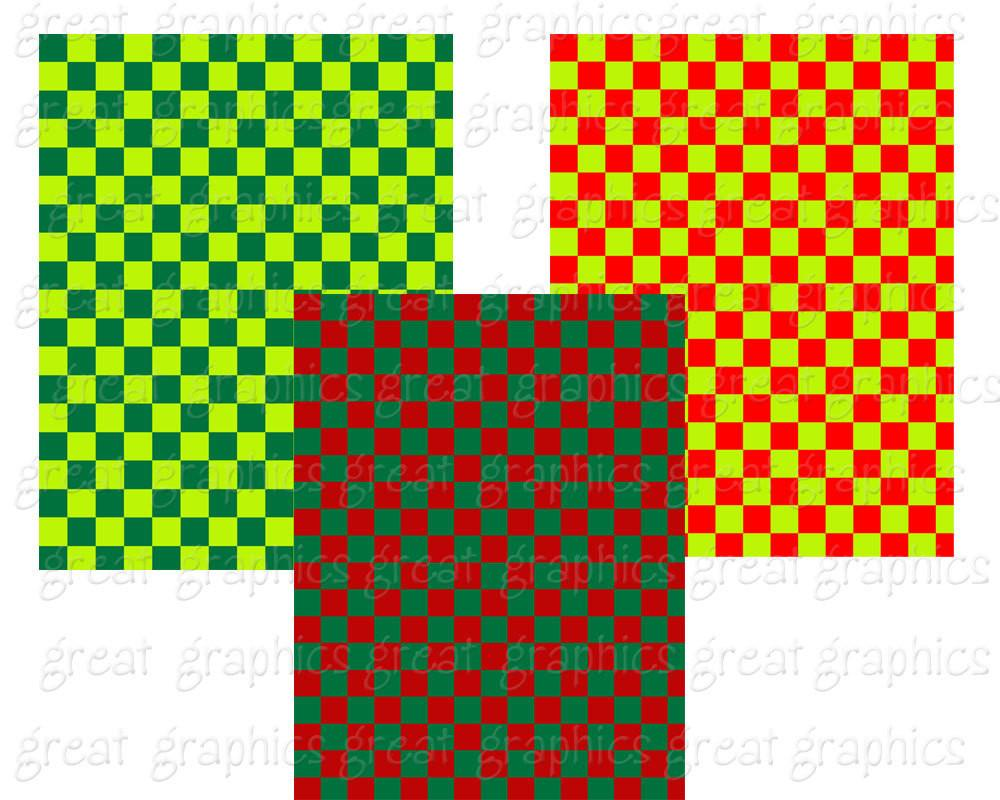 1000x800 Christmas Check Digital Paper Checkerboard Background Printable