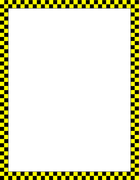 470x608 Printable Yellow And Black Checkered Border. Free Gif, Jpg, Pdf