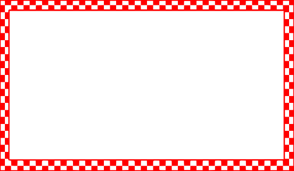 600x349 Red Checkered Border Clip Art