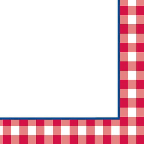 499x500 Red Checkered Border Group