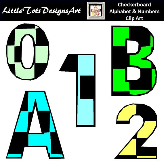570x570 Checkers Alphabet Dlipart Digital Font With Uppercase