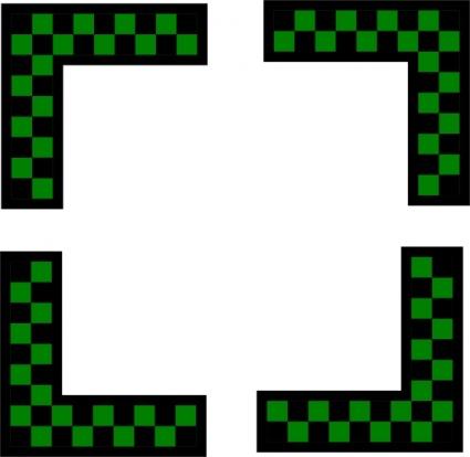 425x414 Free Download Of Corners Design Worldlabel Com Green Checkers Clip