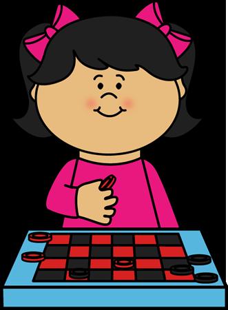 331x450 Kid Playing Checkers Clip Art