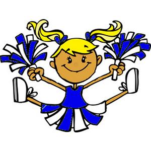 300x300 Cheerleading Cartoon Clipart