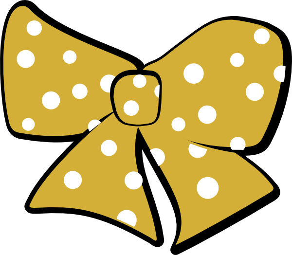 600x524 Gold Cheer Bow Clip Art