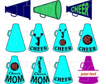340x270 Cheer Svg Cut Files Cheerleading Silhouette Cheer Monogram