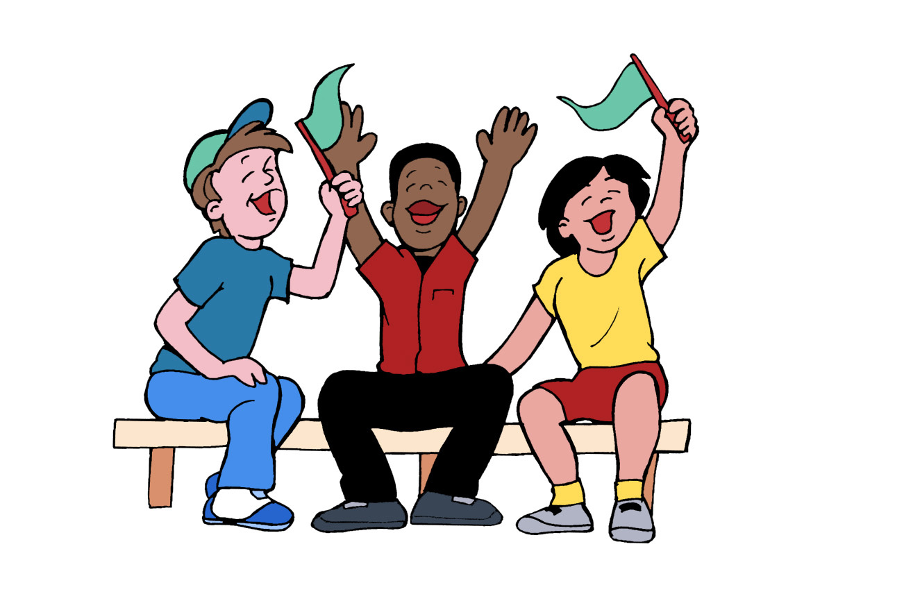 1302x866 Student Cheering Clipart