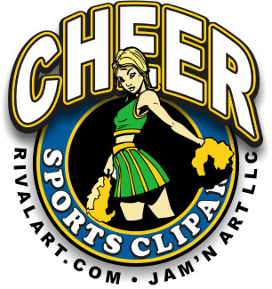 306x325 Cheerleading Clip Art