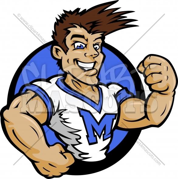 586x590 Cheerleader Clipart Male Graphic Vector Cartoon