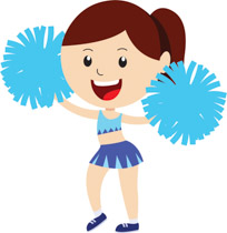 204x210 Cheerleading Clipart Pictures