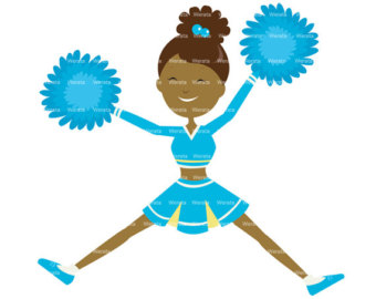 Cheerleading Stunts Clipart