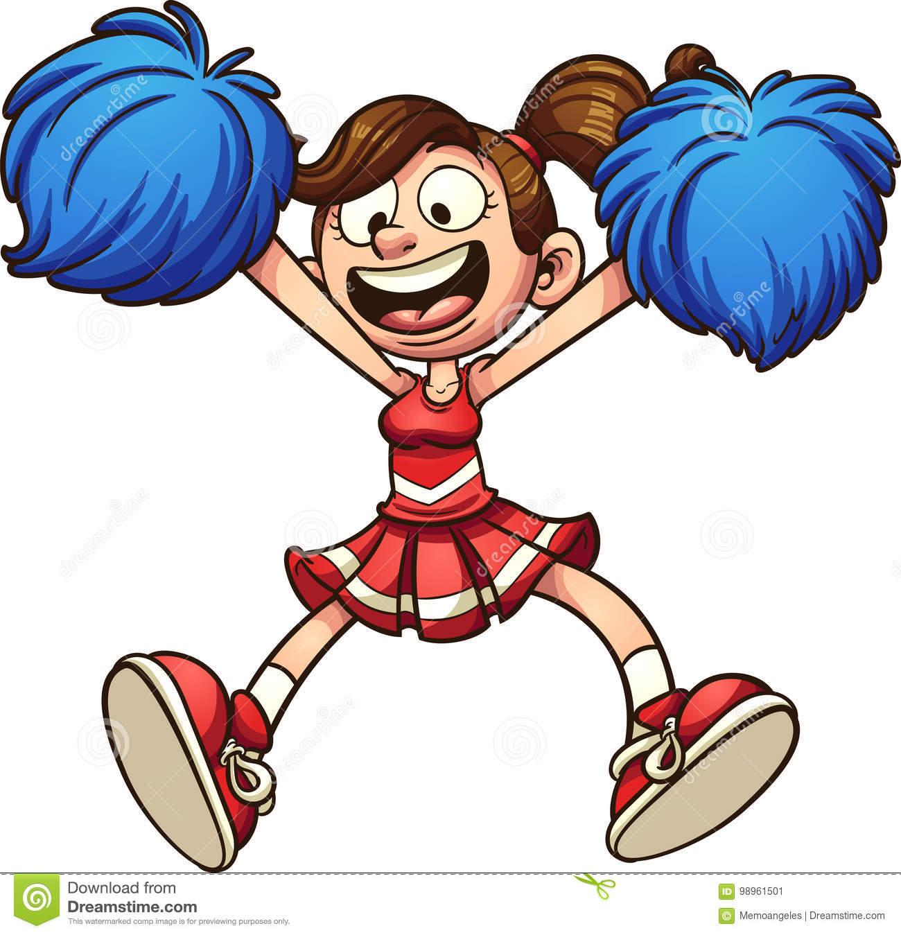 1300x1349 Animated Cheerleading Clipart Group