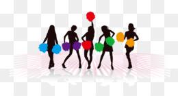 260x140 Cheerleading Silhouette Stunt Clip Art
