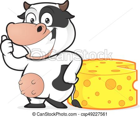 450x376 Cow With Cheese. Clipart Picture Of A Cow Cartoon Character