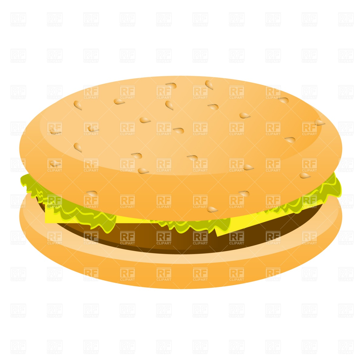 1200x1200 Cheeseburger Simple Outline Royalty Free Vector Clip Art Image