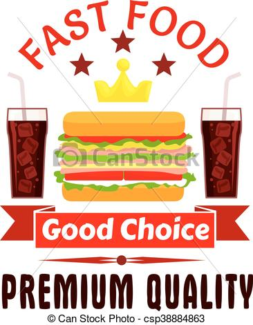 366x470 Fast Food Cheeseburger And Soda Coke Icon. Fast Food Label Clip