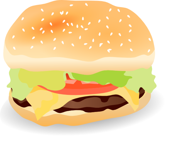 600x499 Image Of Cheeseburger Clipart